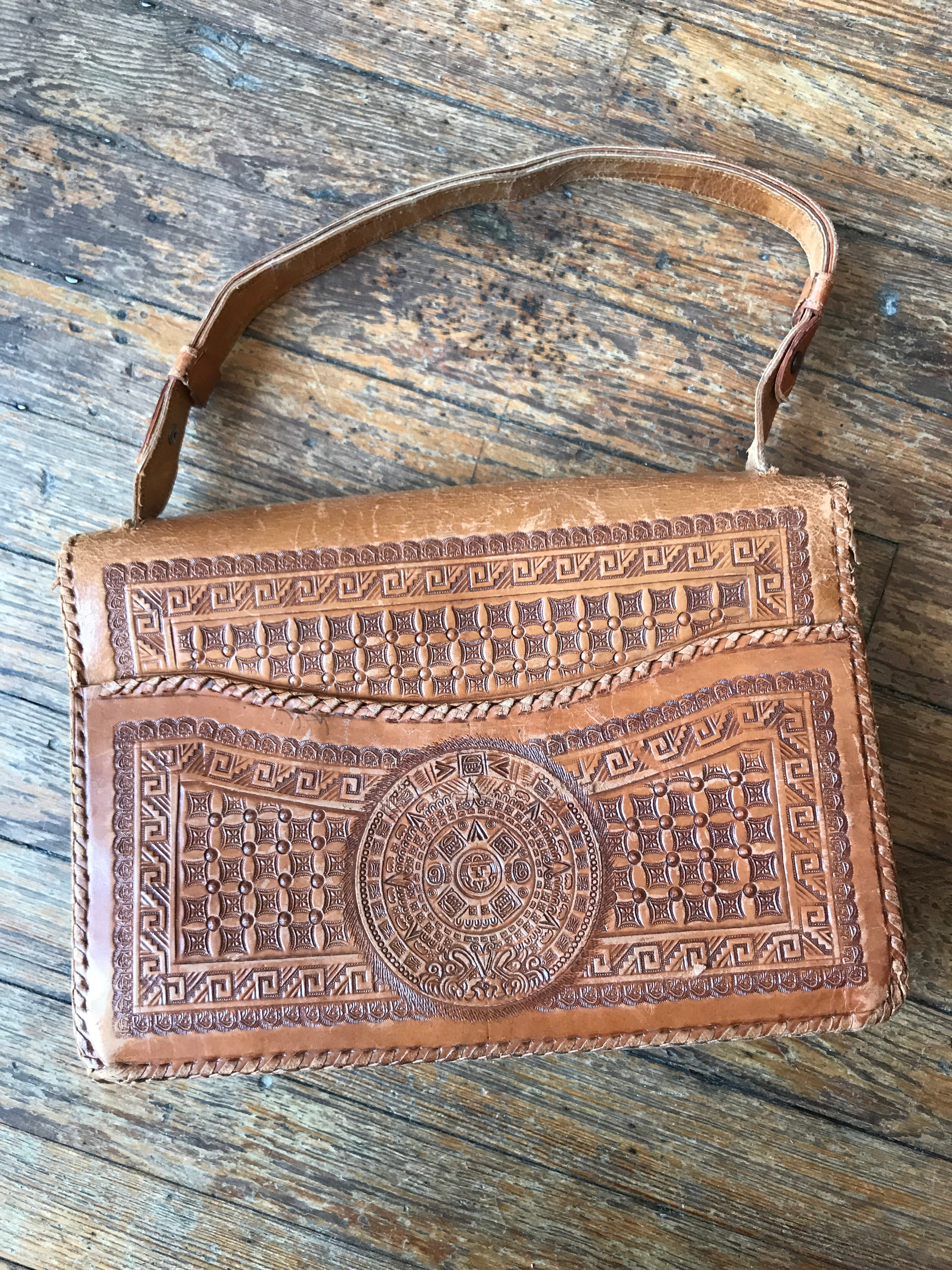Insanely Detailed Leather Mexican Bag
