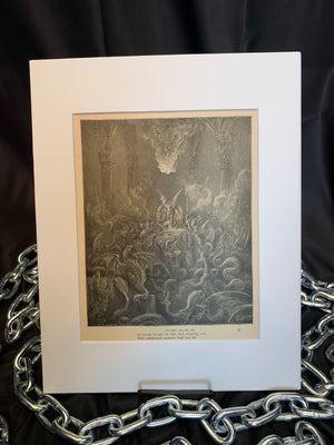 "Gustave Doré ""Dreadful was the din"" Print"