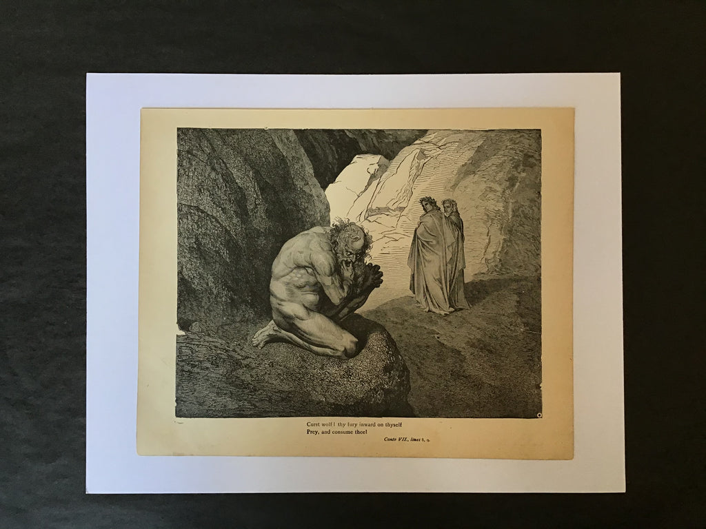 Gustave Doré Print-Canto VII Lines 8, 9