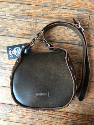 Brown Leather Harley Bag
