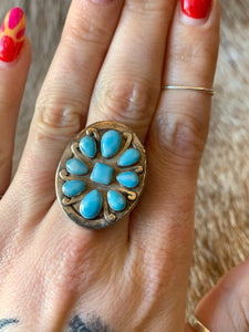 Sterling Multi-Stone Turquoise Round Ring