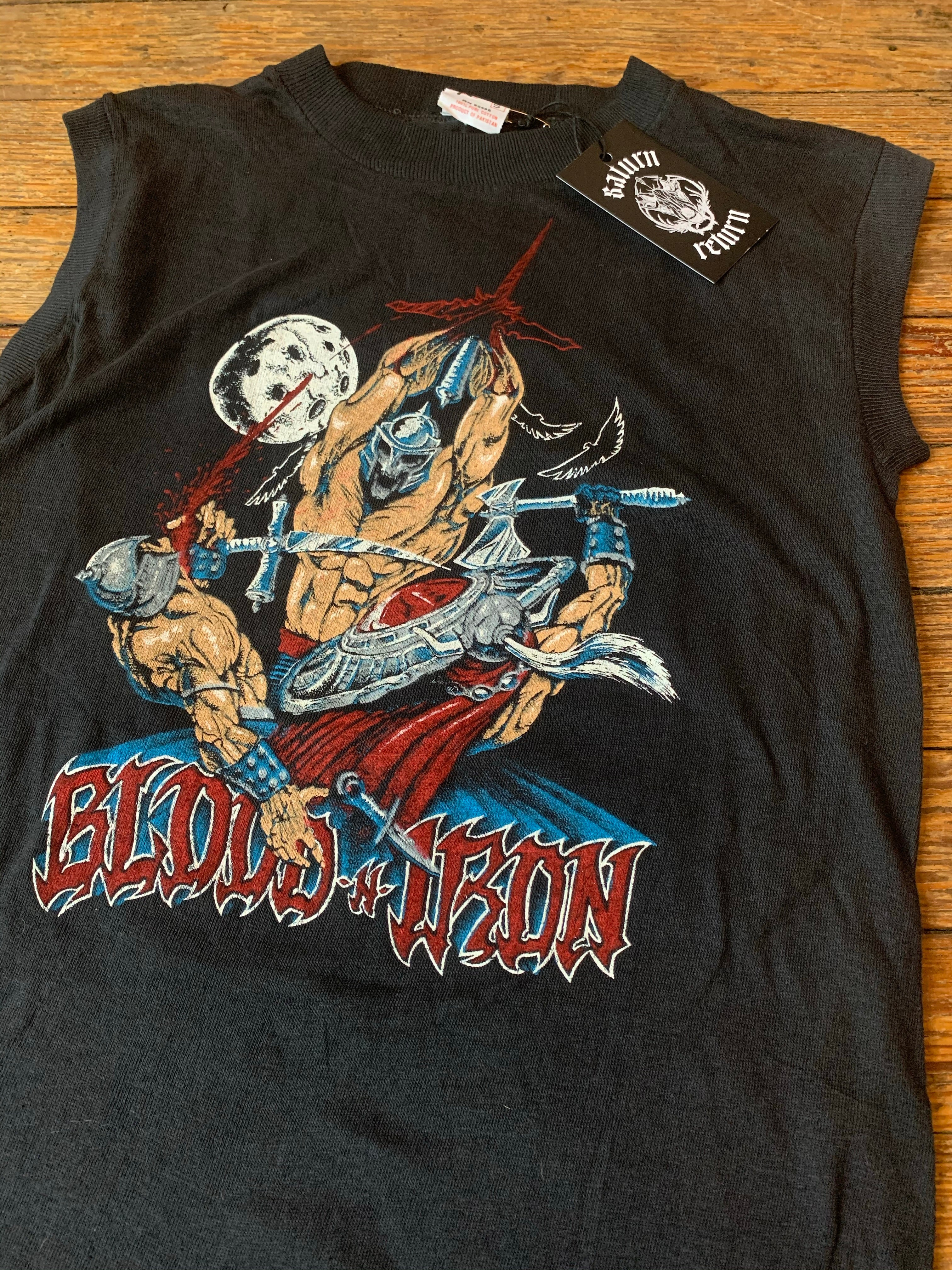 Vintage Deadstock Blood 'n' Iron Warrior Fantasy Art Muscle T-Shirt