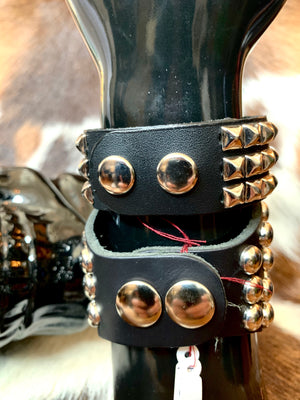 Leather Studded Cuffs