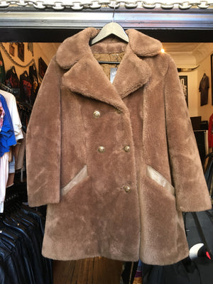 Vintage Sears Tan Faux Fur Teddy Coat