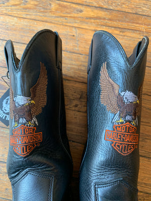 Harley-Davidson Eagle Embroidered Biker Boots