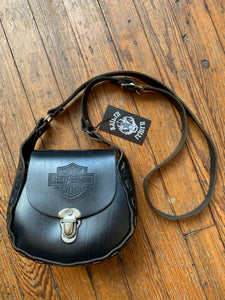 Black Handstitched Harley-Davidson Shoulder Bag