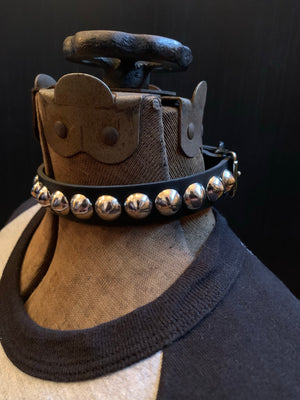Vegan Conical Stud Collar