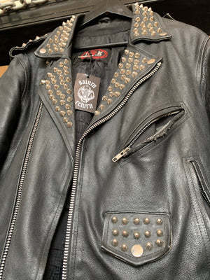 Discharge Studded Leather Moto Jacket