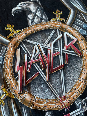 Vintage 1990 Slayer European Campaign Tour Tee