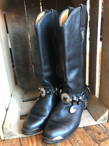 Vintage Frye Boots with Concho Strap