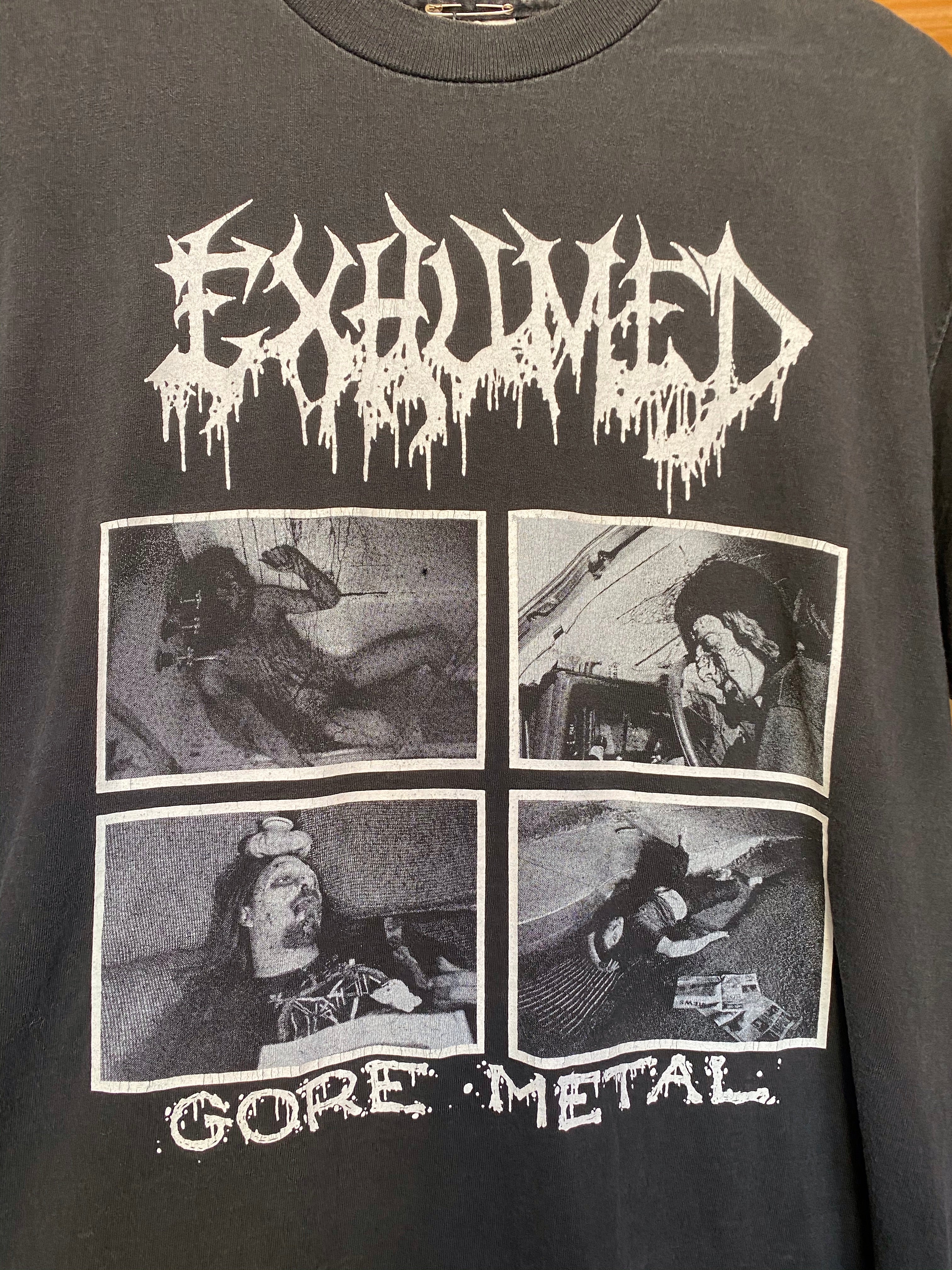 Vintage Exhumed Gore Metal 90's T-Shirt