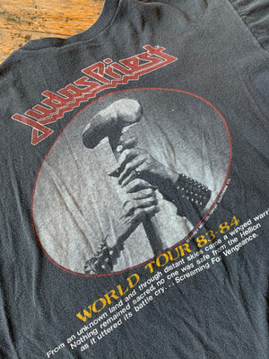 Vintage 1983/1984 Judas Priest Screaming For Vengeance Tour Tee