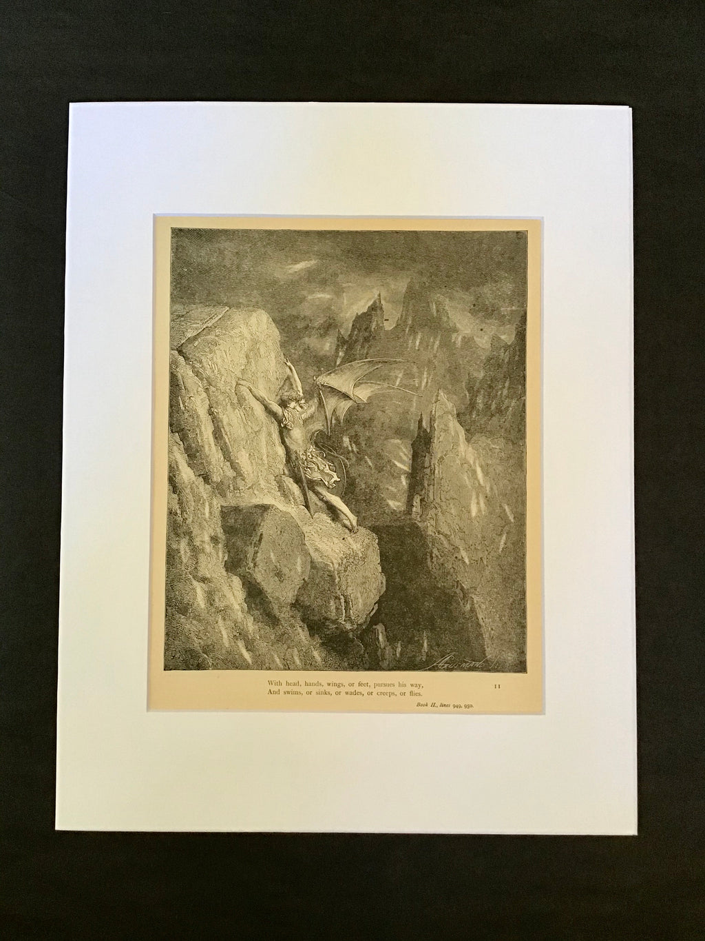 Gustave Doré Matted Print-Book II 949, 950