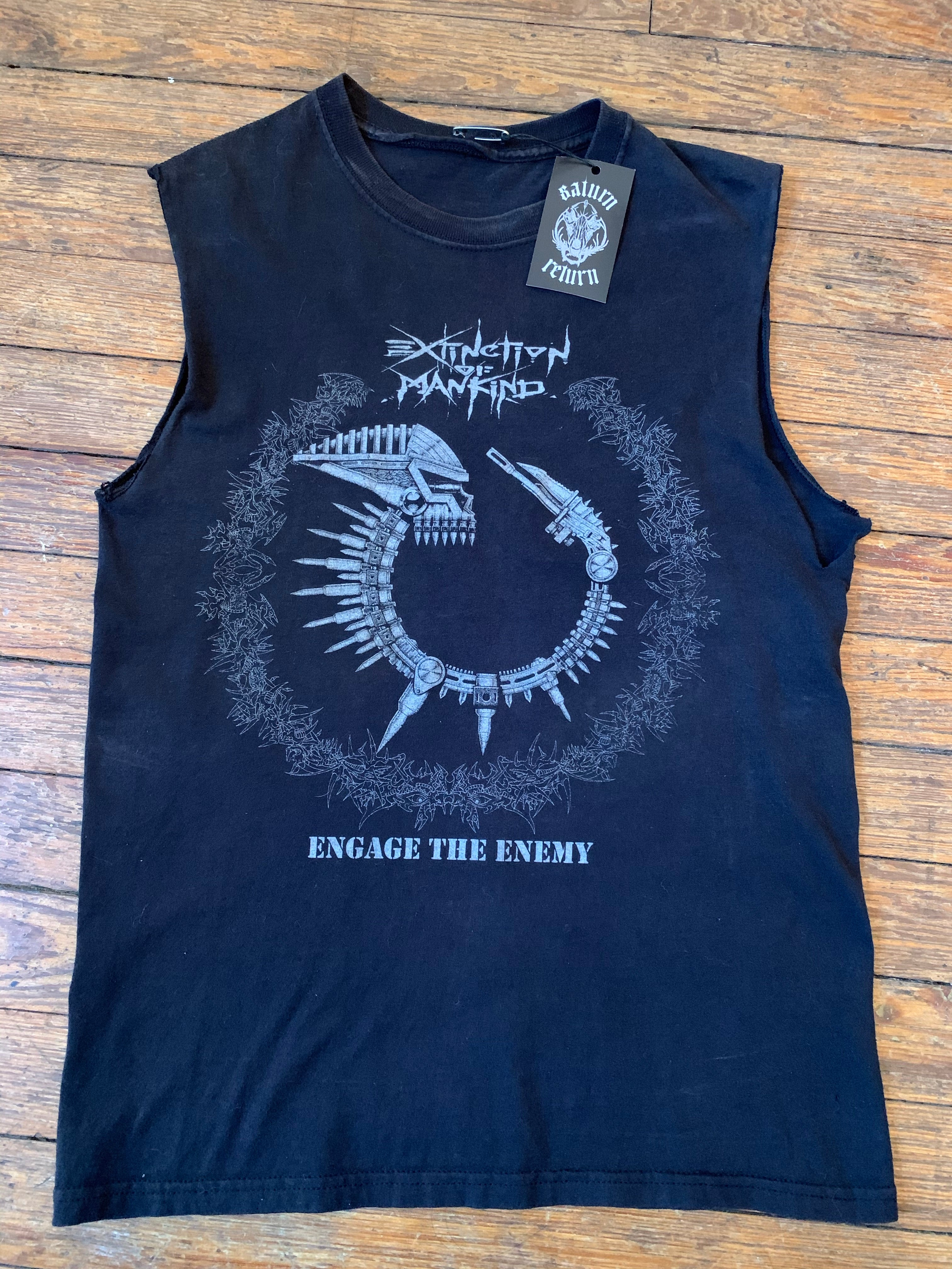 Extinction Of Mankind Engage The Enemy Cut Off Sleeveless T-Shirt