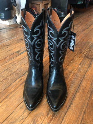 Vintage Nocona Leather Lizard Cowboy Boots