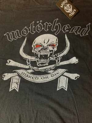 Vintage 90's Motörhead March Or Die Tee