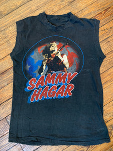 Vintage 1983 Sammy Hagar Kicks Ass Muscle T-Shirt
