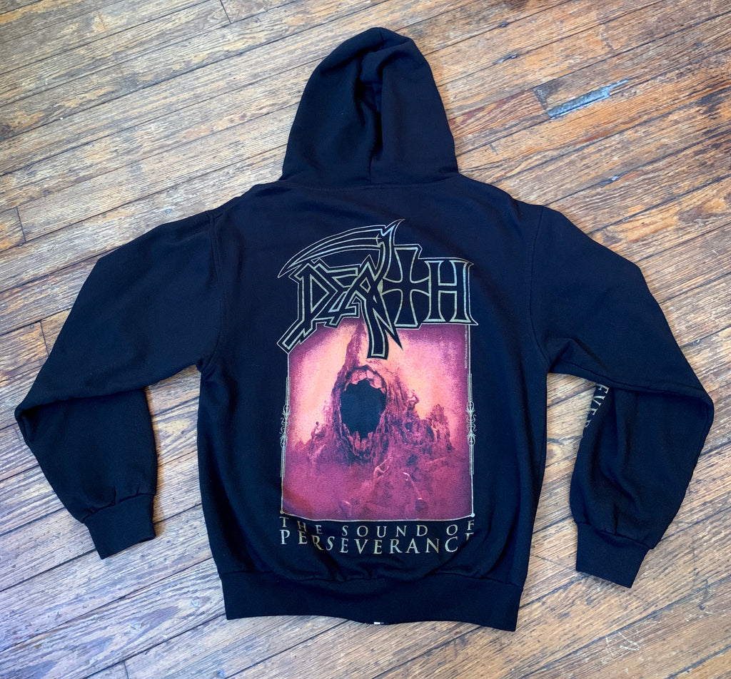Death The Sound of Perseverance Official Hooded Zip Up Sweatshirt