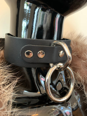 Wide Leather O-Ring Collar