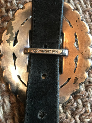 Pre-Loved Heavy Sunflower Concho Belt