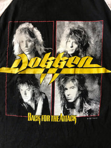 Vintage 1987 Dokken Back For The Attack Raglan