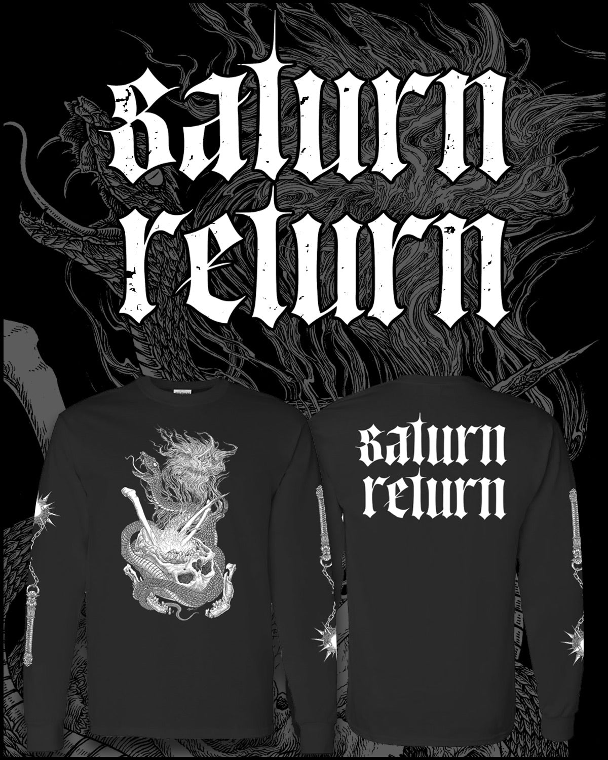 Saturn Return Serpent's Skull Long Sleeve Tee