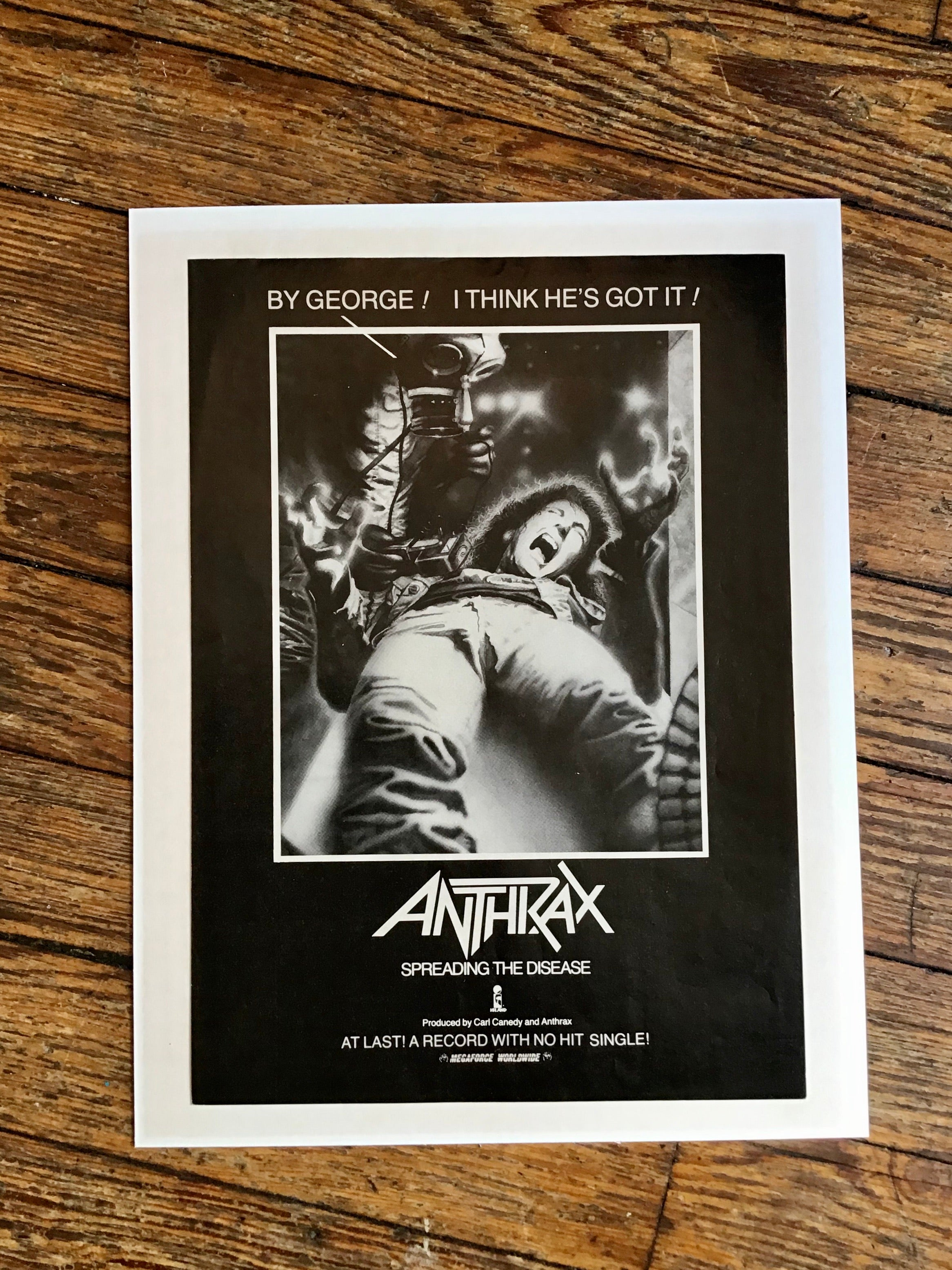 "1985 Anthrax ""Spreading The Disease"" Magazine Ad"