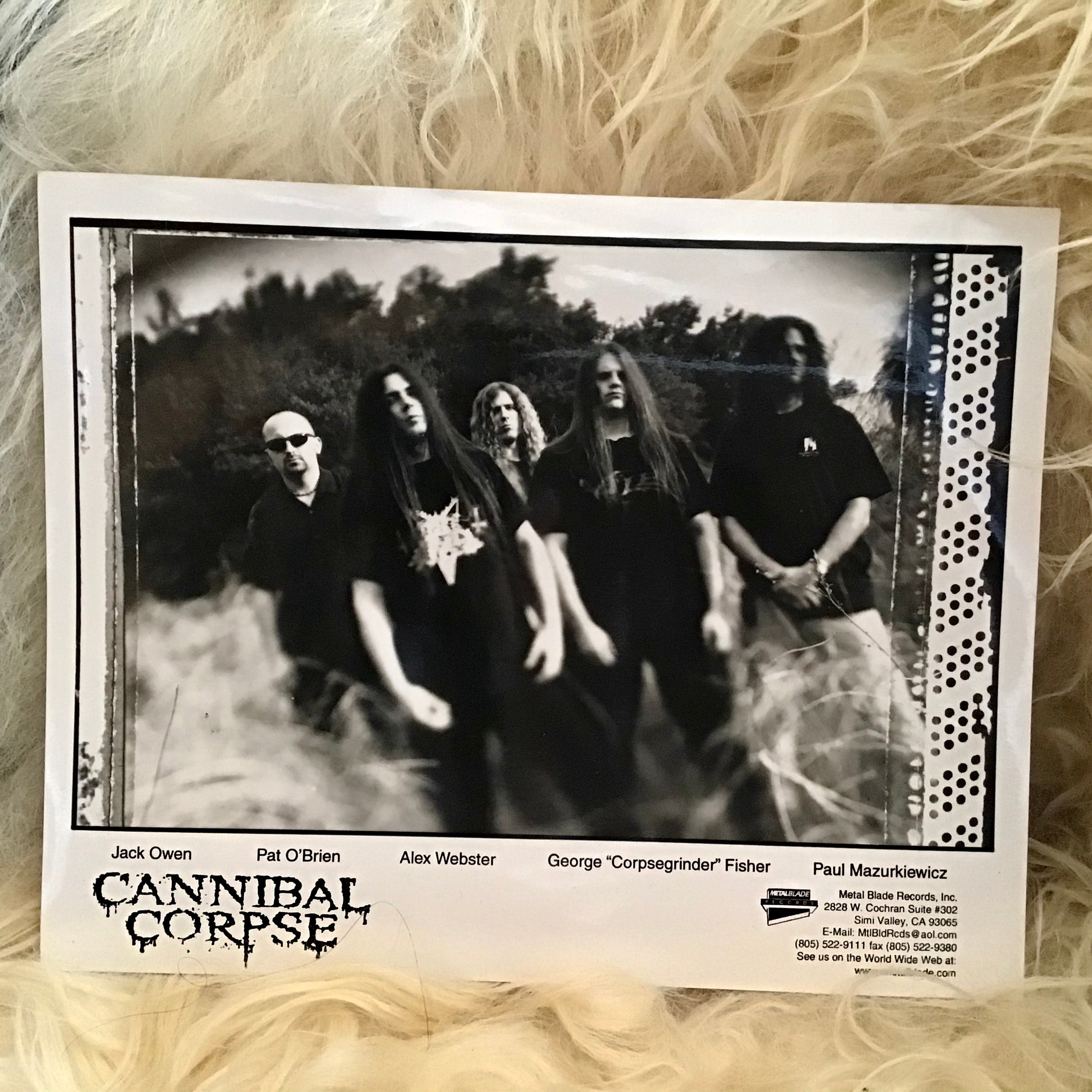 90's Cannibal Corpse Promo Photo