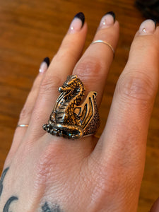 Vintage G&S Dragon Biker Ring