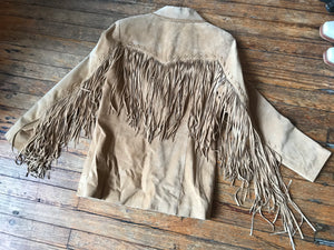 Tan Suede Cripple Creek Fringe Jacket