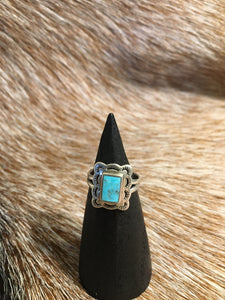 Small Sterling Turquoise Ring