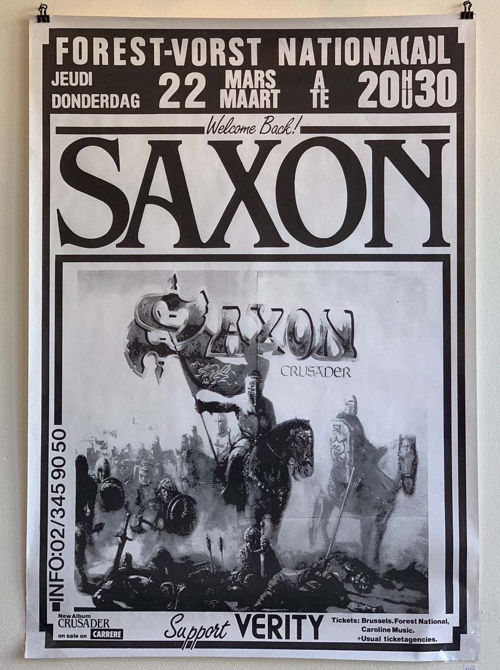 1984 Saxon Crusader w/ Verity Forest National Belgium Show Poster