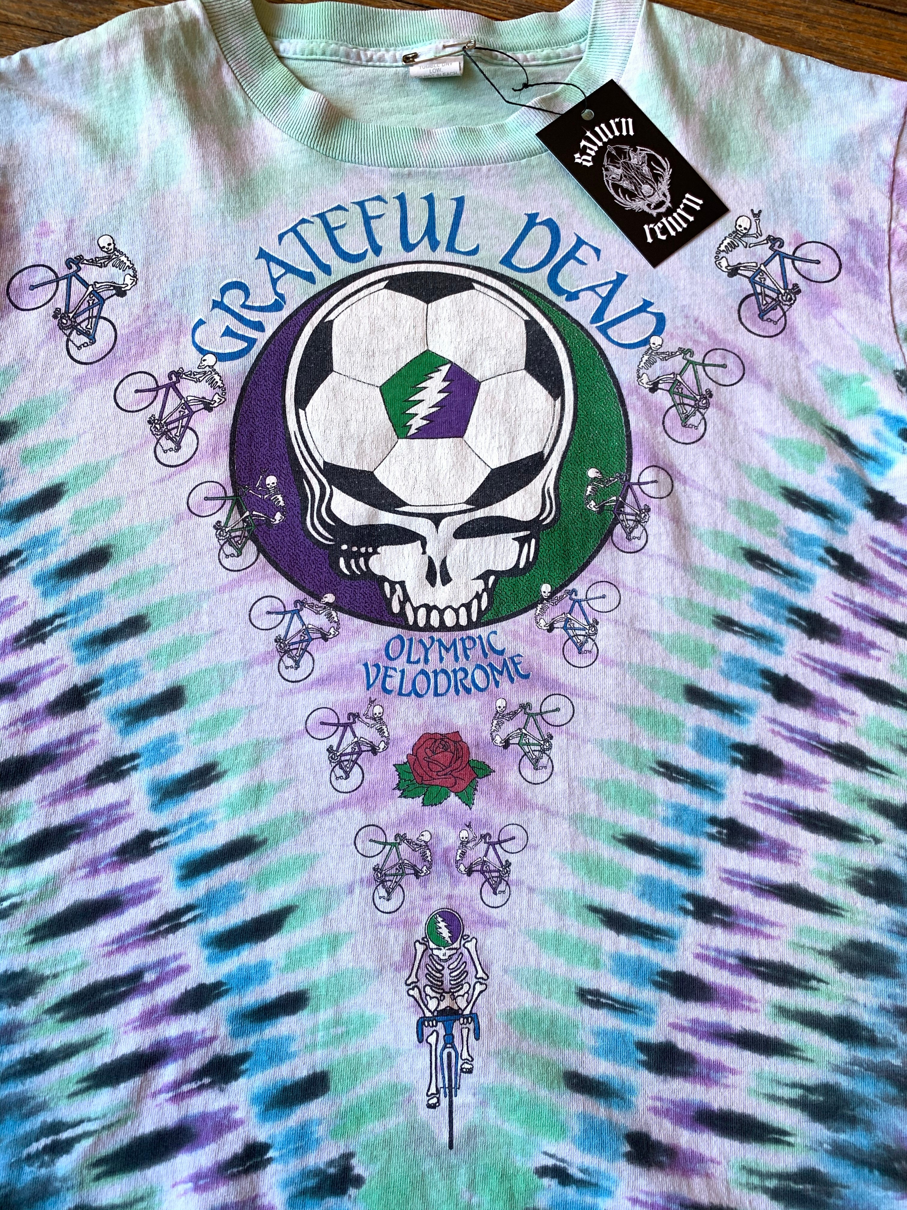 Vintage 1990 Grateful Dead Playin' In The Field Olympic Velodrome Tee