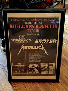 "Original 1984 Metallica ""Hell on Earth"" Magazine Tour Ad"