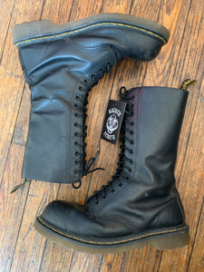 Distressed Doc Marten 14 Eyelet Steel Toe Boots