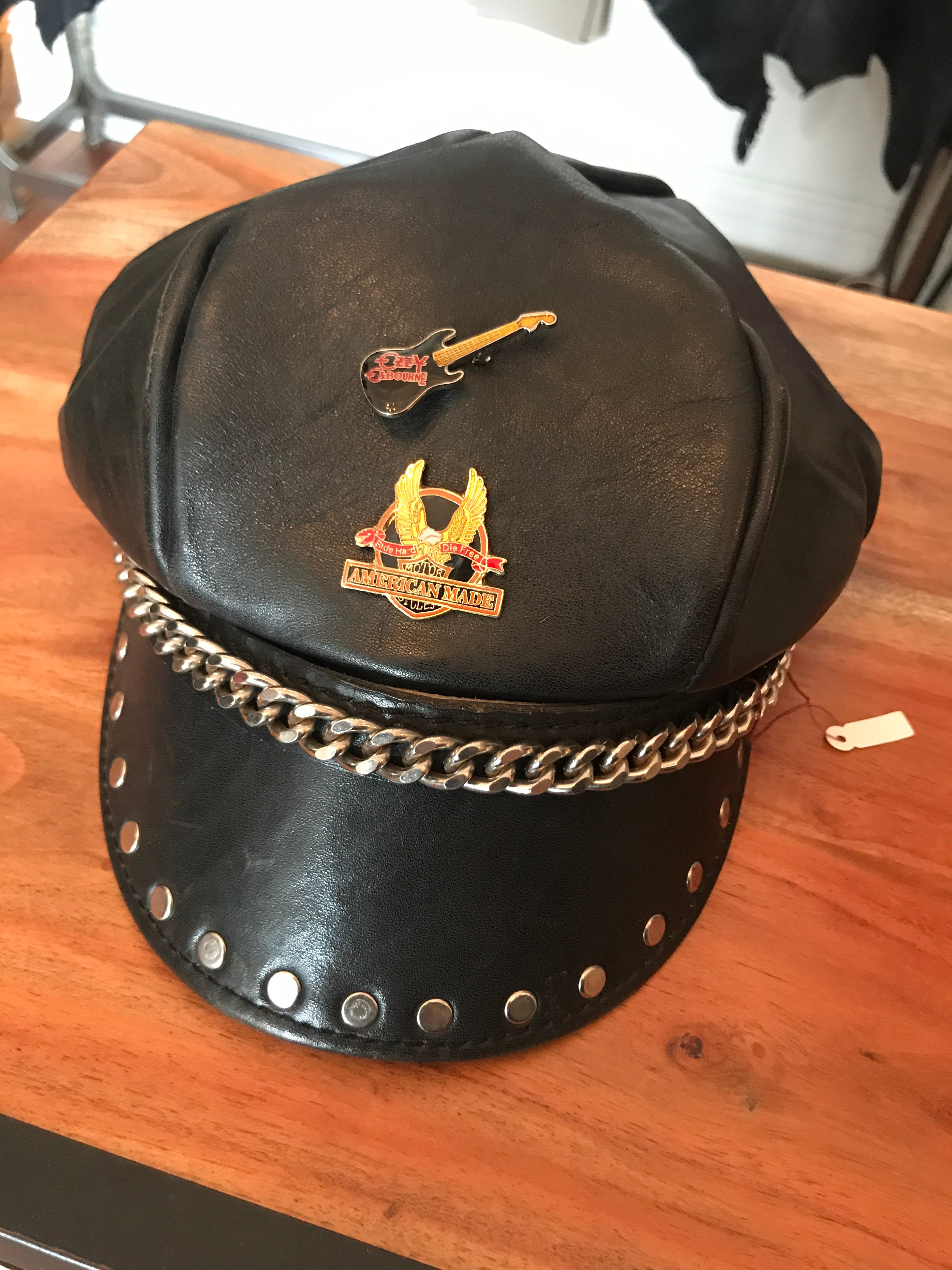 Vintage Leather Chain Hat