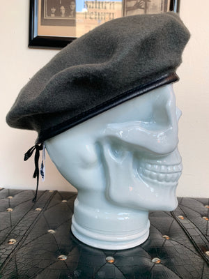 Grey Wool Air Force Military Beret