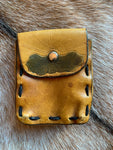 Vintage Handmade Hand Dyed Leather Belt Pouch