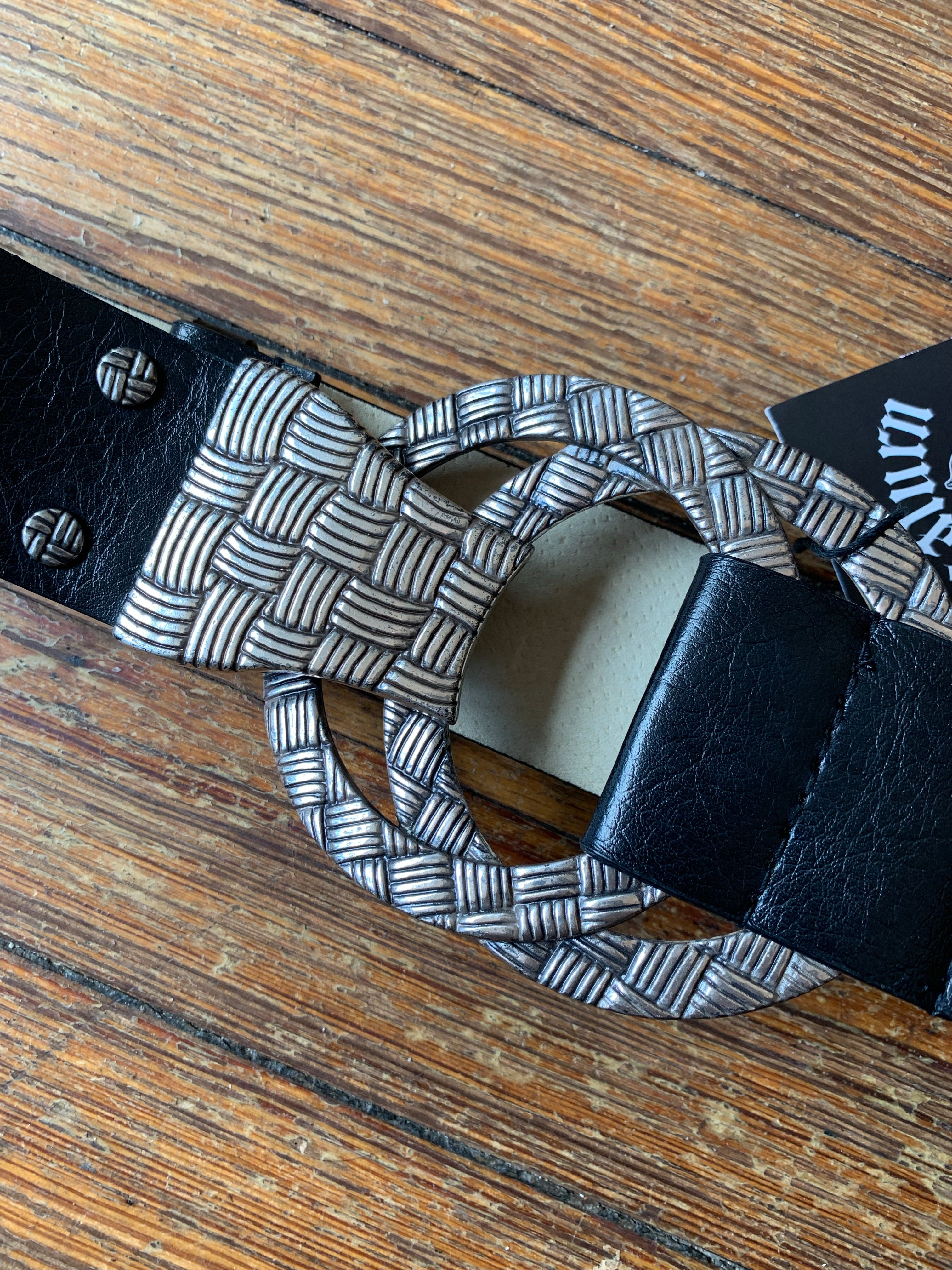 Black and Silver Double Weave Belt