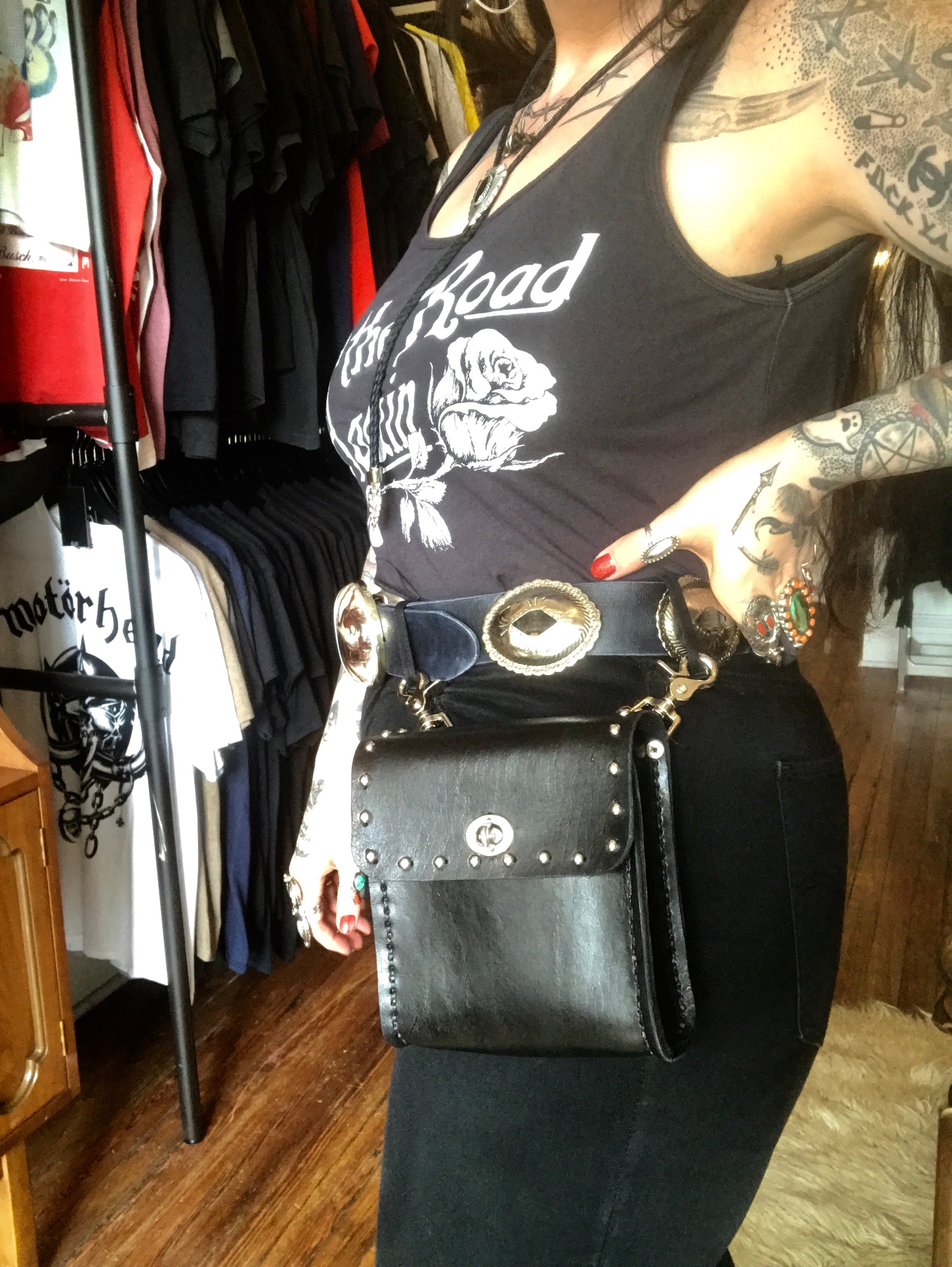 Heavy Duty Leather Belt Bag
