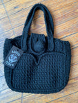 Vintage Black Knitted Handbag