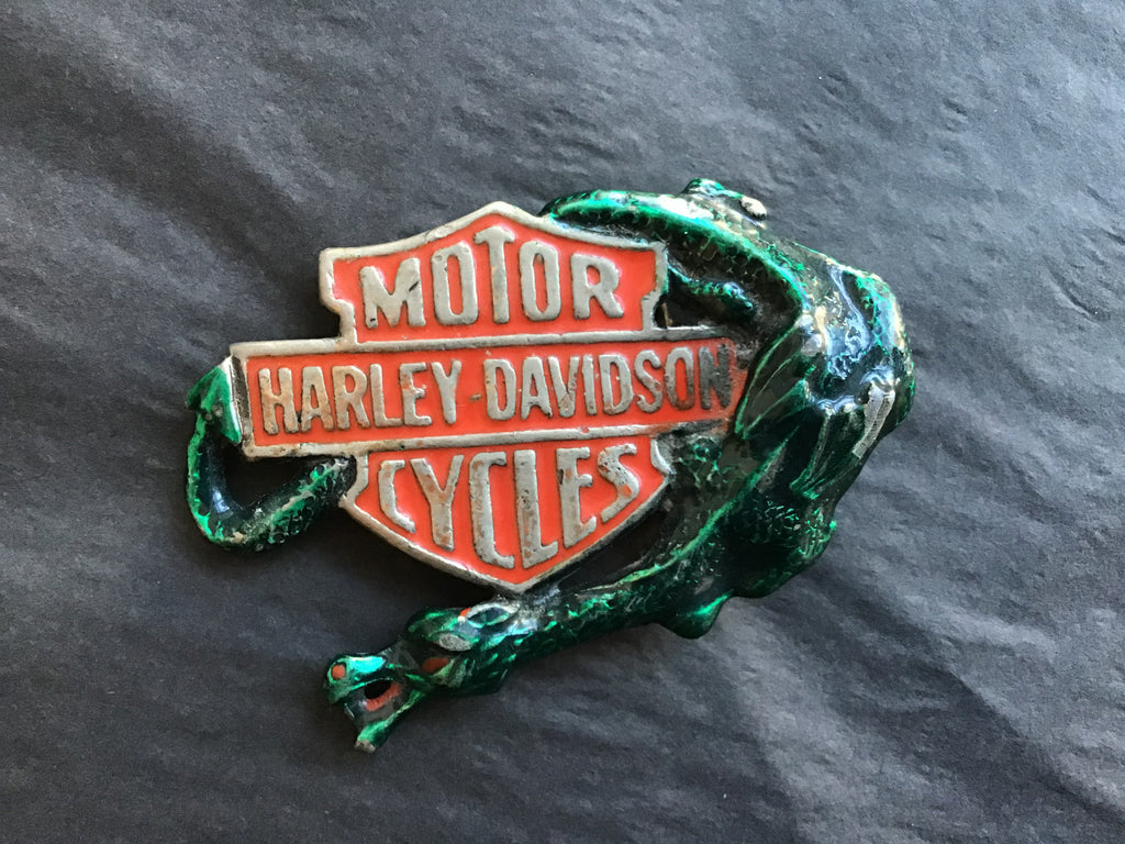 Vintage 1980 Harley Davidson Dragon Belt Buckle