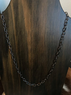 Simple Black Chain Necklace