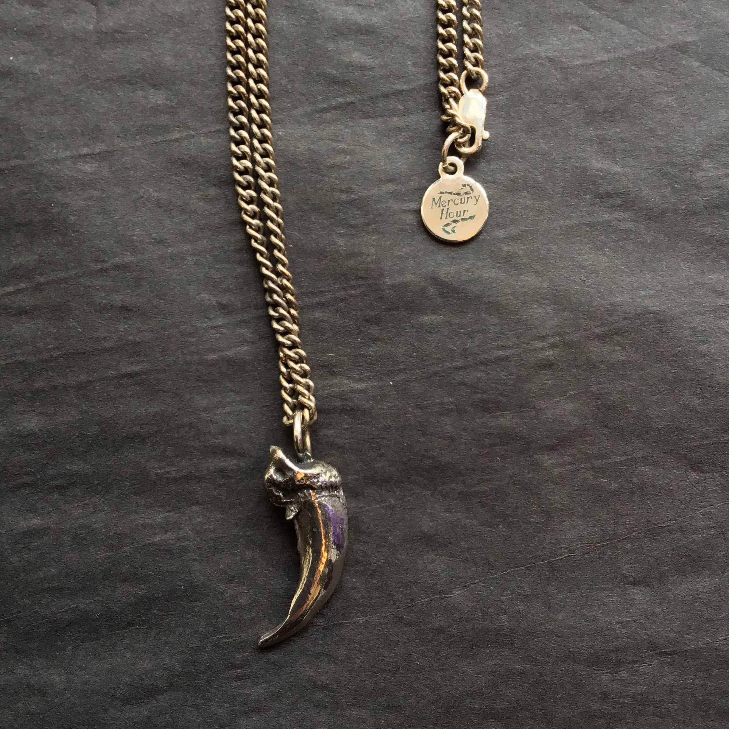 Mercury Hour Wolf Claw Necklace