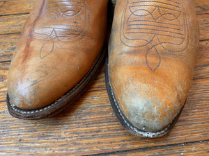 Vintage Distressed Tan Frye Cowboy Boots