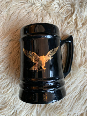 Large Black And Gold Eagle Tankard