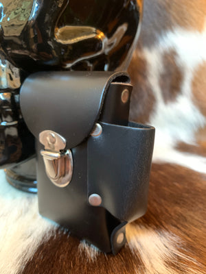 Leather Cigarette and Lighter Belt Pouch