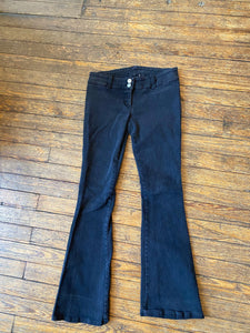 Y2K Black Lip Service Bellbottom Jeans