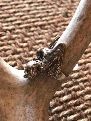 Vintage Skull and Eagle Ring