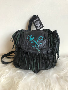 Badass Turquoise Rose Backpack